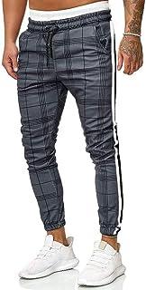 Inverno con Coulisse Casual Pantaloni Sportivi da Uomo Patchwork EUCOO per Autunno