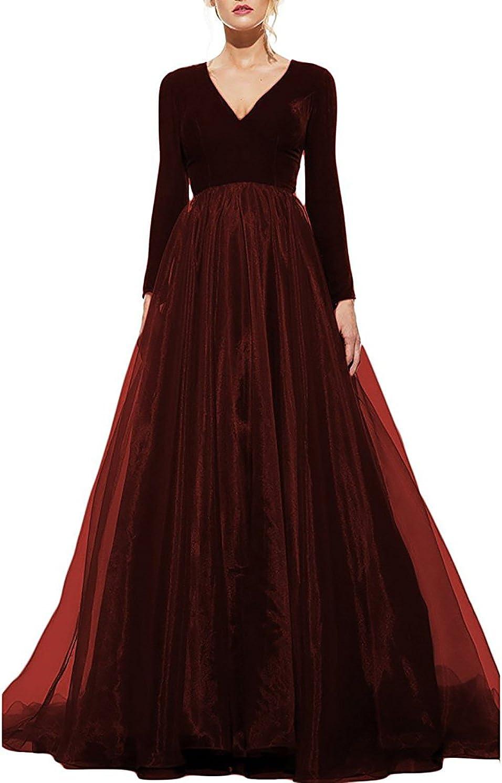 DarlingU Women's Long Sleeve Prom B Al sold out. Evening Dresses Albuquerque Mall Pockets Maxi