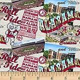 SYKEL ENTERPRISES 0669526 Scenic Map Cotton NCAA Alabama