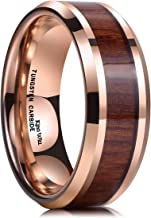 mens koa wood wedding bands