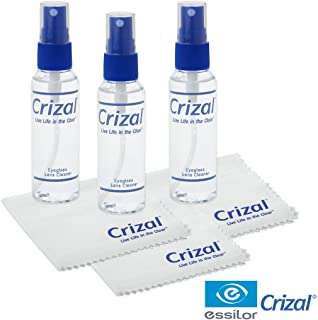 Crizal Eye Glasses Cleaning Cloth and Spray | Crizal Lens Cleaner (2 oz) with Crizal 6 1/2