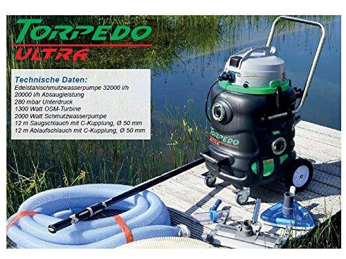 Rössle Torpedo Ultra Teichschlammsauger zur Teichreinigung