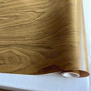 Vinyl Wood Grain Wallpaper Self Adhesive Contact Paper Peel and Stick Wallpaper Waterproof for Kitchen Countertop 45cm x 3...