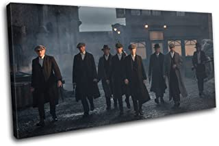 Bold Bloc Design - Peaky Blinders Television Show TV 80x40cm SINGLE Canvas Art Print Box Framed Picture Wall Hanging - Hand Made In The UK - Framed And Ready To Hang
