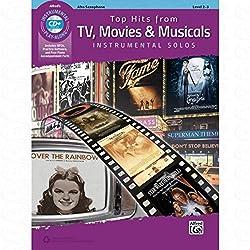 Top Hits From TV Movies + musicals - arrangement pour saxophone alto - avec CD [partitions/partition] de la série : INSTRUMENTAL SOLOS