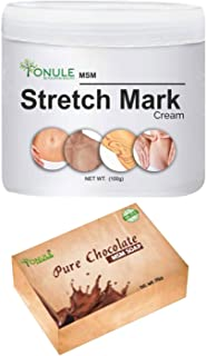 Ionule MSM Stretch Mark Cream with Pure Chocolate Soap for Men and Women Combo Pack of 2 - (2 X 90 gm)