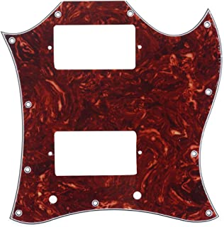 Musiclily Pro 11-Hole Large Full Face Guitar Pickguard for Import SG, 4Ply Vintage Tortoise