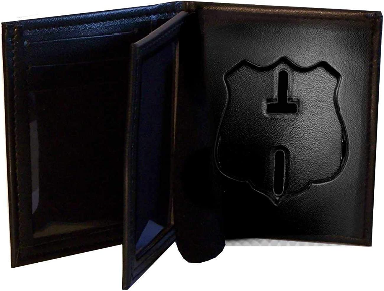 Houston Police Hidden Badge Wallet (Cutout DK847, 2.73 inches tall)