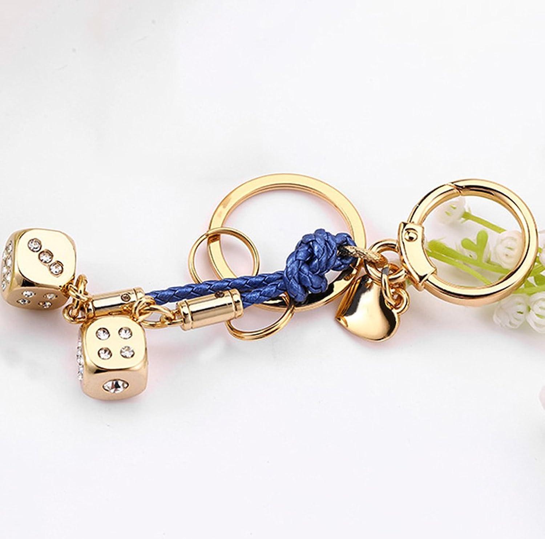 YYHSND Kreativer Goldwürfelschlüsselketten-niedlicher Autoschlüsselketten-Taschenanhänger Schlüsselbund B07MMQRYQV Zart   | Grüne, neue Technologie