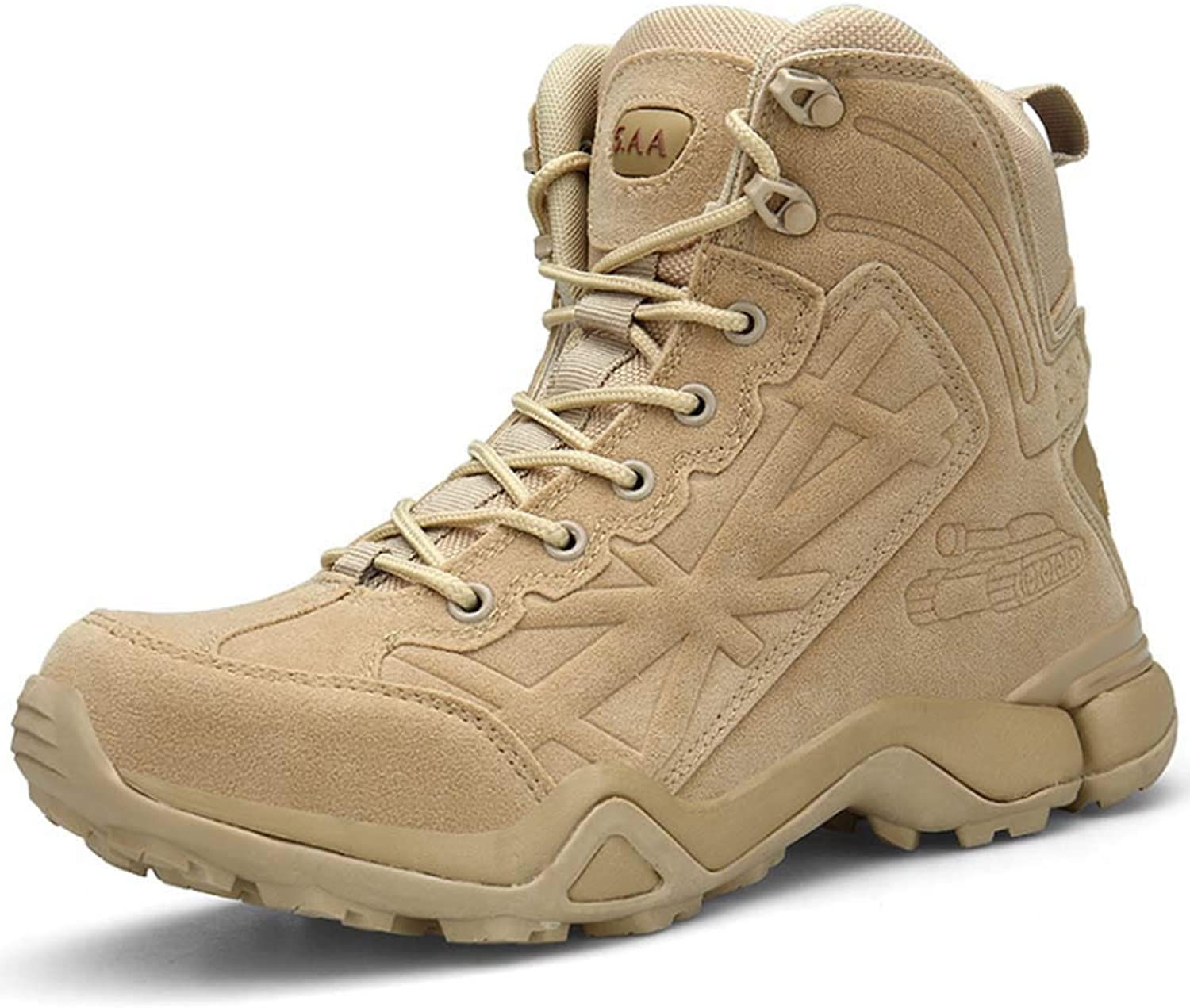 Men Hiking Boots,Military Tactical Combat Boots Womens Trekking shoes Lace-up Boot High Top Walking Climbing Sneakers
