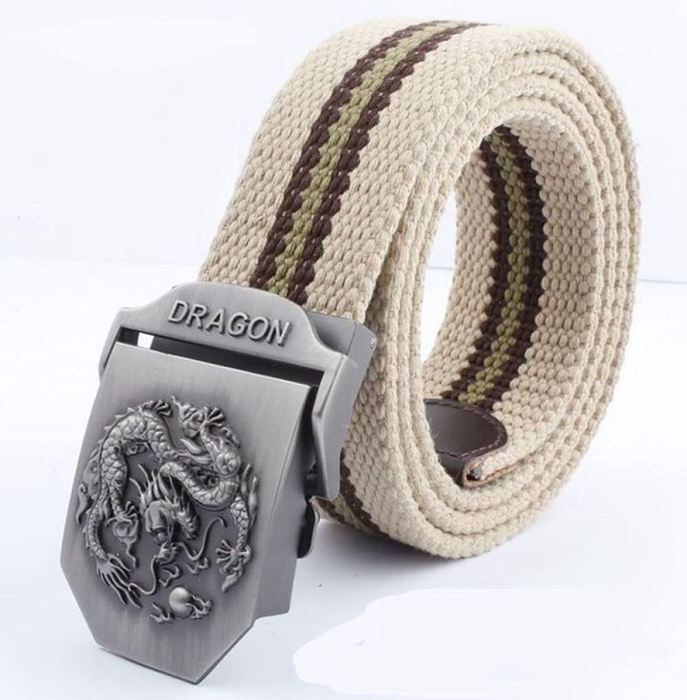 FDDSSYX Nylon Canvas Belt - Stripes Sales Cheap bargain for sale Unisex Beige Dra