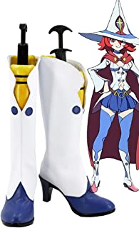 Telacos Little Witch Academia Ursula Callistis Shiny Chariot Boots Cosplay Shoes Boots Custom Made