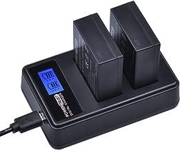 PowerTrust 2 Pack 1400mAh NP-W126 NP W126 Camera Battery and LCD USB Dual Charger for Fuji NPW126 X-T10 XT10 X-Pro1 XPro1 X-T1 XT1, HS30 33 35 50