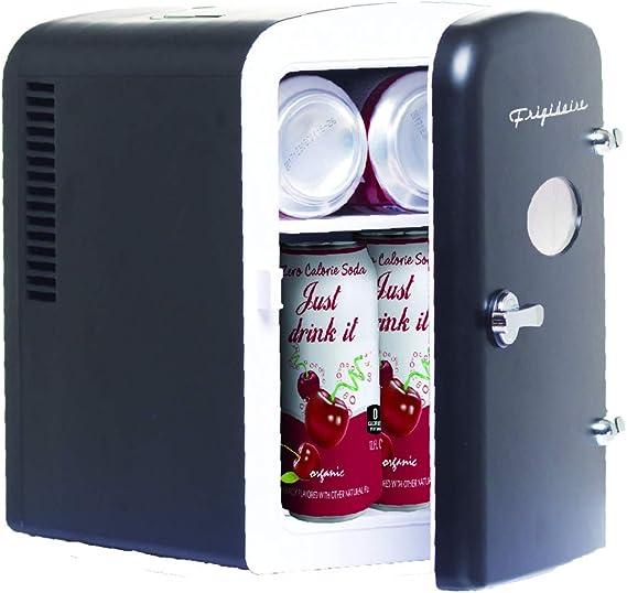 Frigidaire EFMIS129-BLACK 6 Can Retro Mini Portable Personal Fridge/Cooler for Home