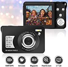 Digital Camera 30MP Camera 2.7 Inch TFT LCD with 8X Digital Zoom Vlogging Camera Video Camera Compact and Portable Selfie Camera