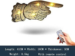 Letrero LED retro, Signo creativo de señalar con el dedo Pantalla de hierro forjado LED tablón de anuncios tablero publicitario escaparate pantalla electrónica signo decoración de la pared
