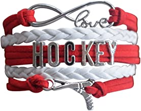 Infinity Collection Hockey Charm Bracelet, Hockey Jewelry- Hockey Bracelet- Perfect for Hockey Players