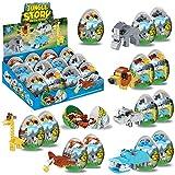 Wild Safari Toys - 12 Surprise Animal Eggs Standard Size Building Blocks STEM Toys - Educational Kids 3D Puzzle Party Favors