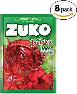 Zuko Polvo para Preparar Bebida, Jamaica, 120 g, Display con 8 Sobres