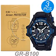 [3-Pcs] for Casio GR-B100 Watch Screen Protector,Full Coverage Screen Protector HD Clear Anti-Bubble and Anti-Scratch