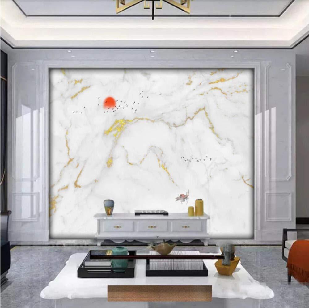 Amazon Xxzzdn メーカーカスタムモダンジャズ白大理石パターン背景壁紙壁画 400x280cm 壁紙