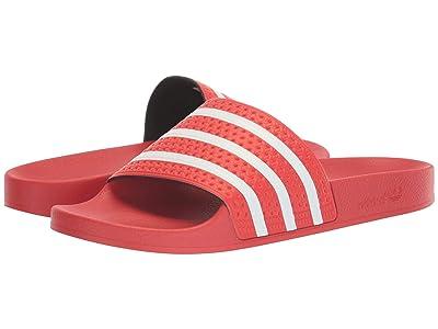 adidas Adilette (Lush Red/Footwear White/Lush Red) Men