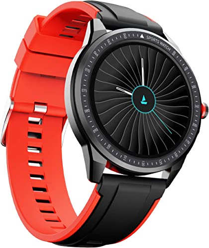boAt Flash Edition Smartwatch with Activity Tracker Multiple Sports Modes Full Touch 1 3 Screen Gesture Control Sleep Monitor Camera Music Control IP68 Dust Sweat Splash Resistance Moon Red
