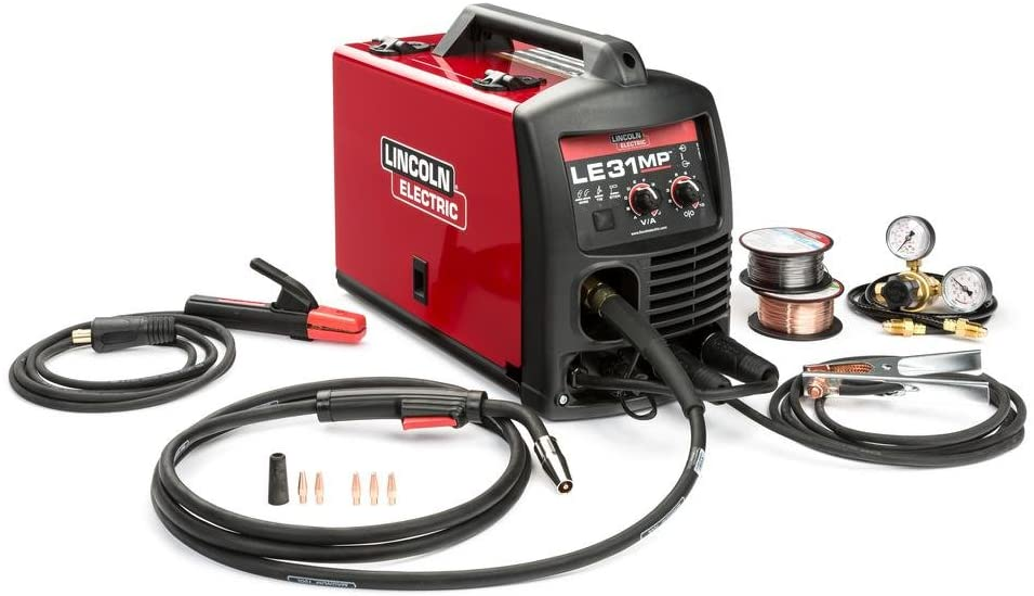 Lincoln Electric LE31MP MIG Welder with Multi Processes - Transformer, MIG, Flux-Cored, Arc and TIG, 120V, 80-140 Amp Output, Model Number K3461-1