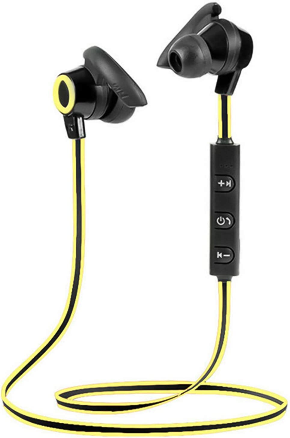 LUYANhapy9 Wireless Bluetooth 5.0 Earphones,Neckband Sports Headset with Microphone Noise Cancelling Stereo Bass Earbuds Rechargeable in-Ear Sport Earphone for Work, Home Office Black Yellow One Size