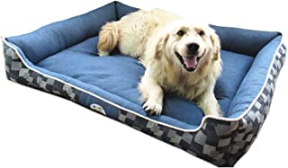 Pet Waterloo Cama para Mascotas - Casa para Mascotas casa de algodón de Mezclilla Impermeable a Prueba de Agua Antidesliza...