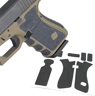 グロック マグウェル グリップ 滑り止めラバーテープ 反動制御ステッカー オリジナルフレーム対応 マルイ/KJ/KSC/WE/VFC/STARK/UMAREX Gen.1/2/3 Glock 17/18/18C/22/24/31/34/35/37用