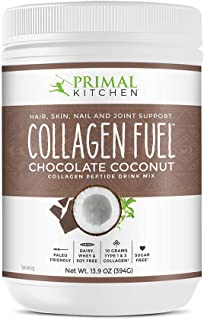 Primal Kitchen Collagen Fuel Protein Mix, Chocolate Coconut,- Non-Dairy Coffee Creamer & Smoothie Booster- Supports Health...