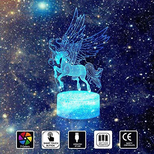Jazz Pose 3D nachtlampen, LED USB & batterij touch licht, 7 kleuren 3D lamp, 3D licht voor kinderen, baby, festival, verjaardagscadeau, slaapkamer decoratie