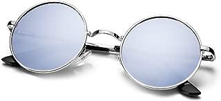 Menton Ezil Unique Blue Mirrored Color Lenes John Sunglasses Polarized for Men Women Glass Driving Outdoor UV400