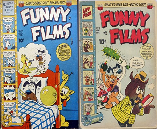 Funny Films. Issues 9 and 10. Plus Boots Blunderbunny. Golden Age Comedy Digital Comics. (English Edition)