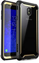 i-Blason Case Designed for Galaxy J7 (SM-J737 2018 Release), [Ares] Full-Body Rugged Clear Bumper Case with Built-in Screen Protector Not fit (J7 Pro 2017 SM-J730) (Gold)
