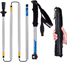 Naturehike Foldable Trekking Pole, Collapsible and Adjustable Hiking Walking Stick Poles for Outdoor Climbing with Lever Lock and Carry Sack(5-Section)