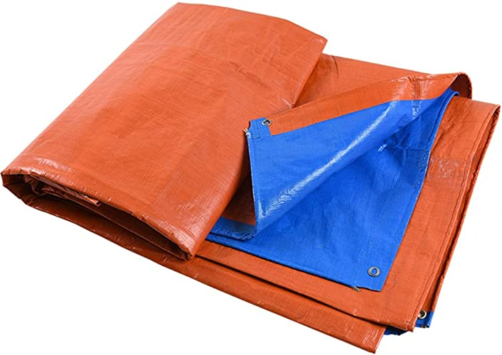 Baches ZXMEI De Jardin, De Prougeection Imperméable for Le Camping, De Prougeection for Le Camping (Orange + Bleu) (Taille   4x6m)