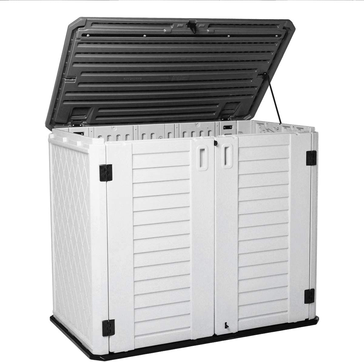 Horizontal Outdoor Garden Storage Shed for Backyards and Patios,