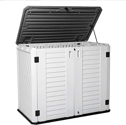 Horizontal Outdoor Garden Storage Shed for Backyards and Patios,Waterproof Storage Box,26 Cubic Feet Capacity for Gar...