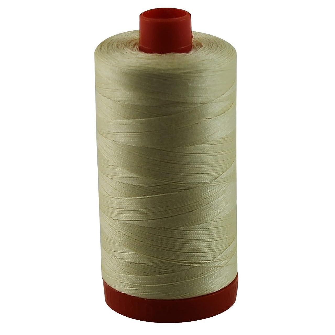 Aurifil 50wt Mako Cotton Thread 1,422 yards - Light Lemon A1050-2110