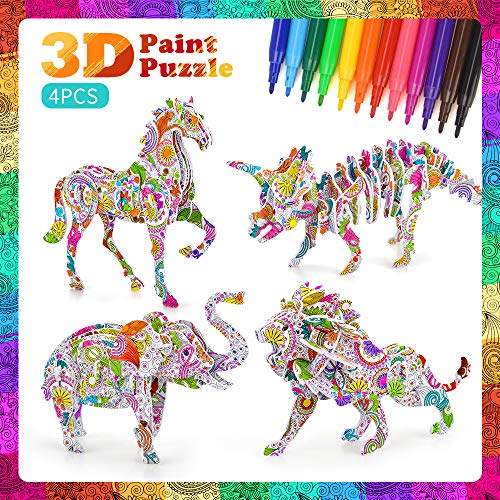 Puzzle Set for Kids 5-10 Year Old Girls,Kids 3D Puzzle Toy for 4-12 Year...