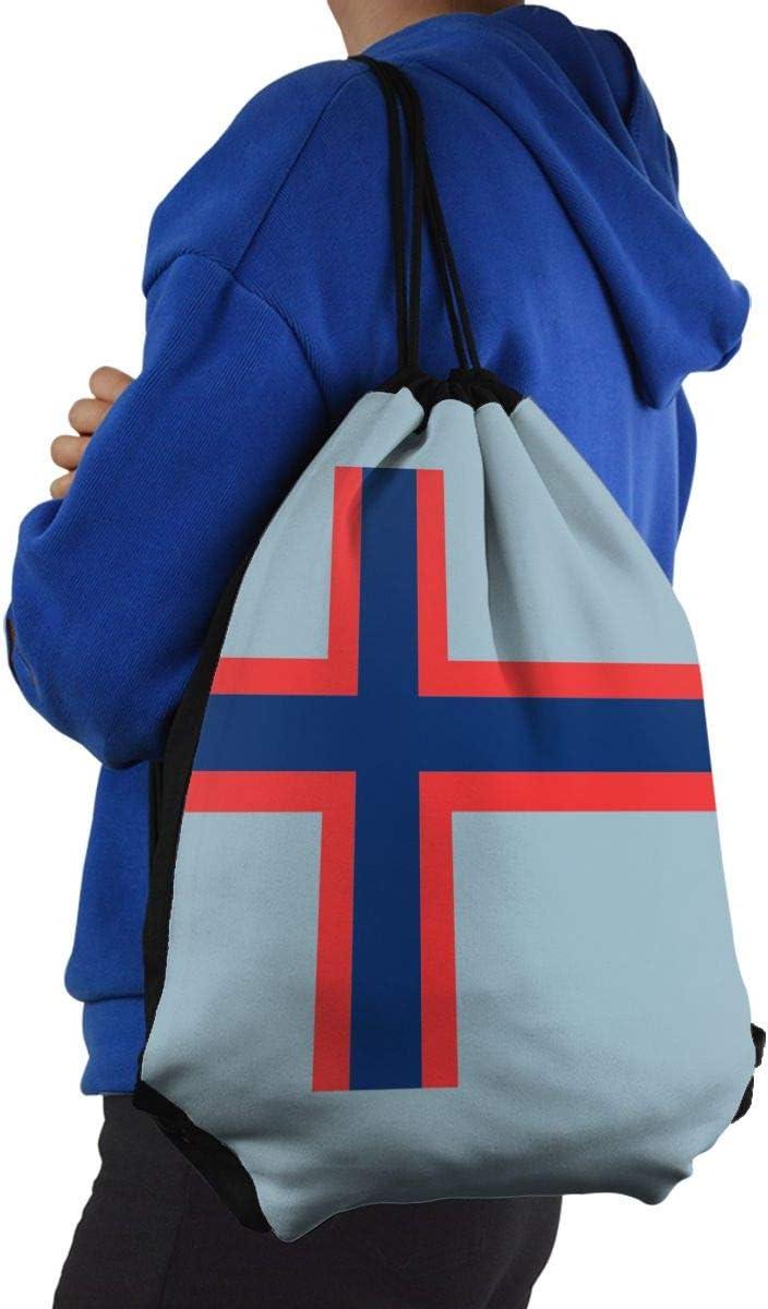 CKJL-YJ Norwegian Flag Unisex Drawstring Backpacks Sport Leisure Bag