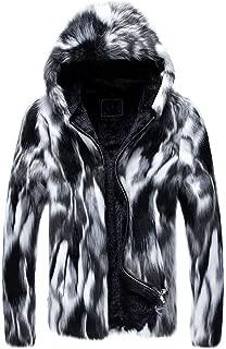 wuliLINL Men's Thick Faux Fur Cardigan Lightweight Classic Casual Short Coat Jacket Overcoat