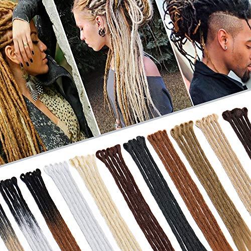 20 Inch Dreadlocks Hair Extensions African Faux Locs Crochet Twist Hair Reggae Hipple Braids Style 5 strands/Pack Light Brown