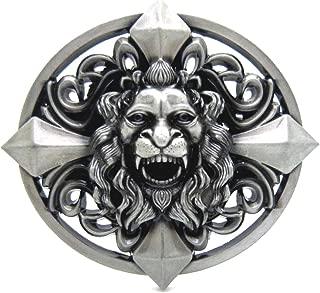 Gothic Keltic Cross Skull Lion Head Heavy Belt Buckle Men Western Celtic