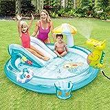 HYQ Aufblasbare Pools Mit Rutsche, Krokodil-Baby-Pool Mit Spielzeug/Wasser-Spray-Kopf-Ideal Für Outdoor-Garten-Spaß Für Kinder Kinder