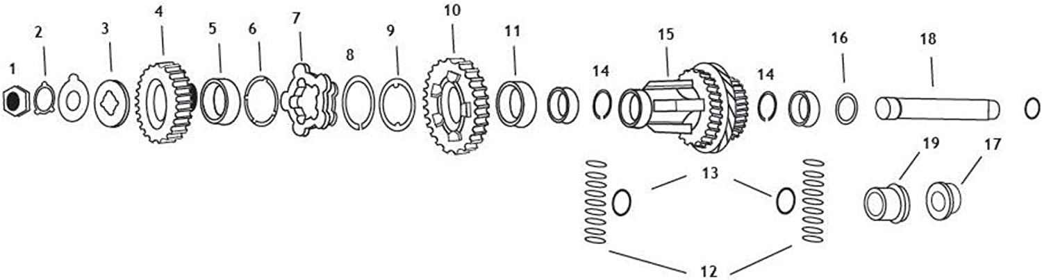 Andrews Countershaft 2nd Gear Max 50% 55% OFF OFF 202160