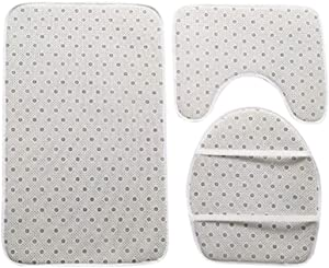 Ekaliy African Waterproof Shower Curtain Sets Anti Slip Absorb Water Bath Rug Toilet Mat Seat Cover 4pcs Purple Large