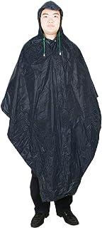 uxcell レインコート ポンチョ 防水 ナイロン フード付き ポンチョ ダークブルー